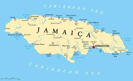 Jamaika Karte